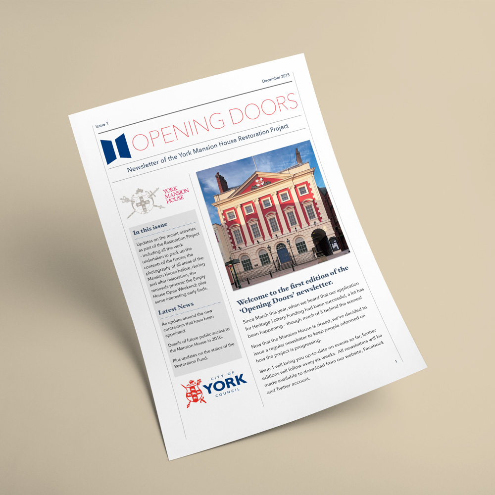 York Mansion House Newsletter